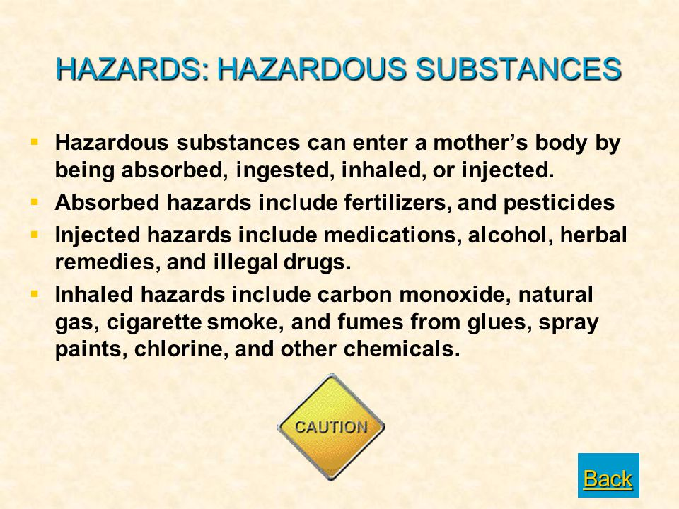 HAZARDS: HAZARDOUS SUBSTANCES