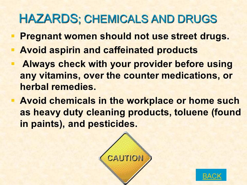 HAZARDS; CHEMICALS AND DRUGS