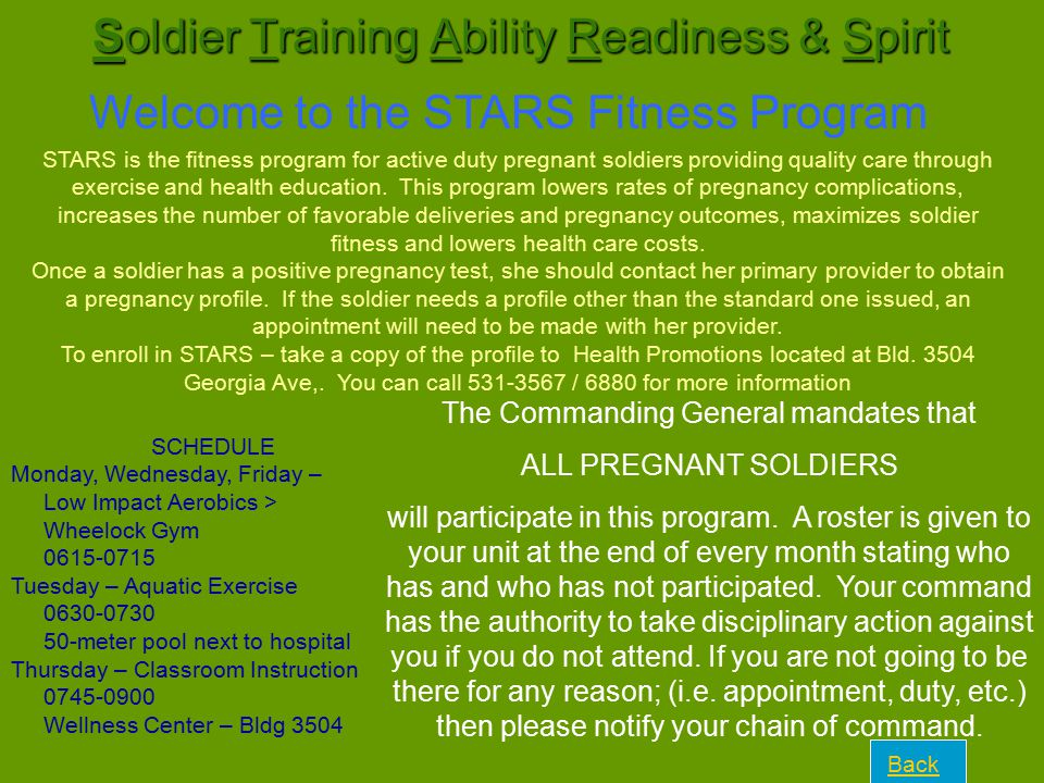 Soldier Training Ability Readiness & Spirit
