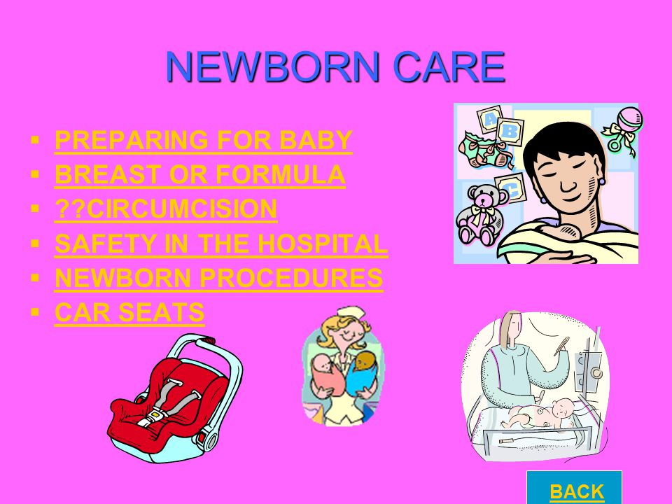 NEWBORN CARE PREPARING FOR BABY BREAST OR FORMULA CIRCUMCISION