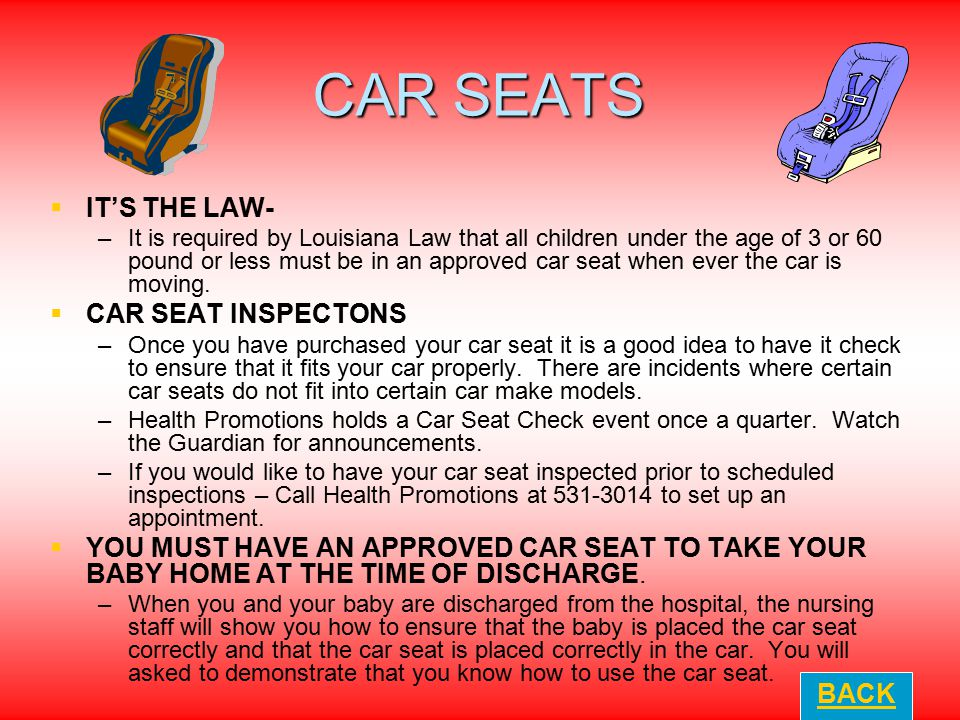 CAR SEATS IT'S THE LAW- CAR SEAT INSPECTONS