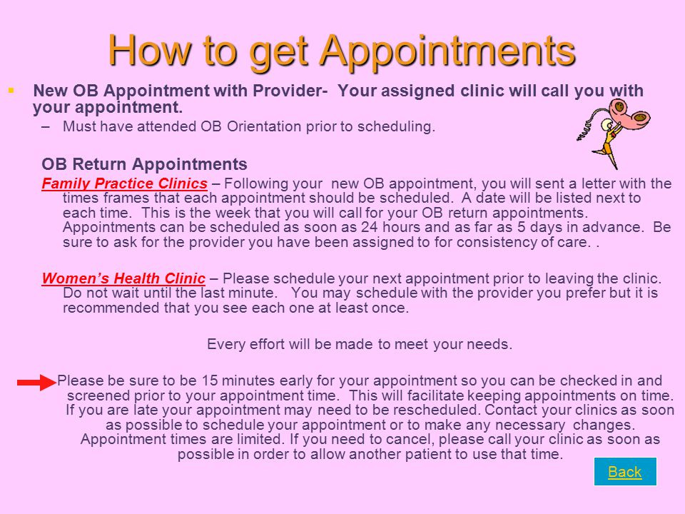 How to get Appointments