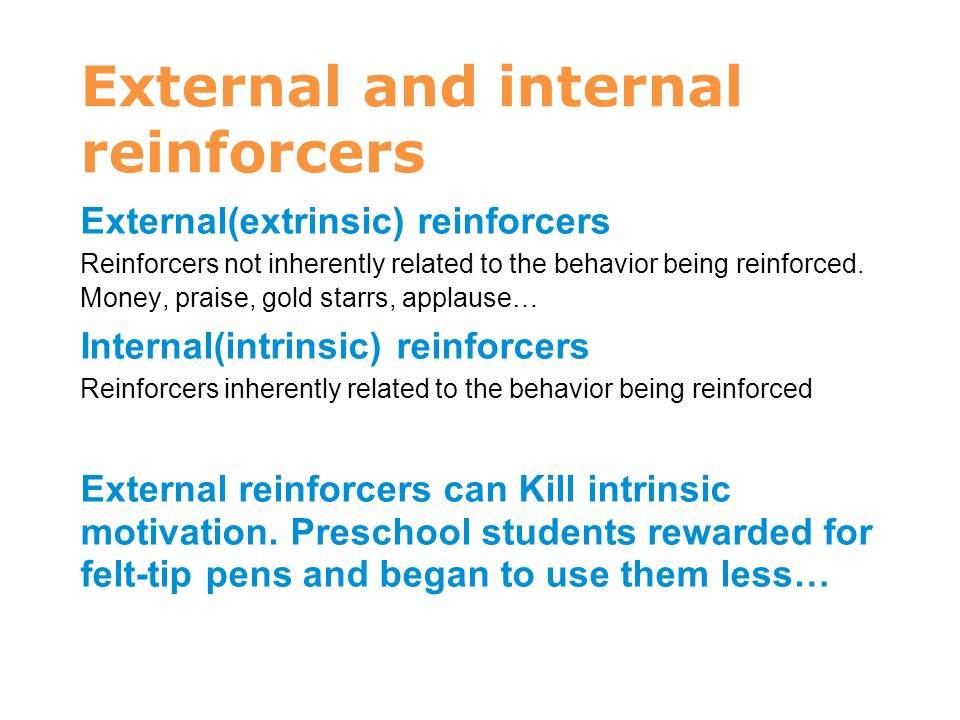 External and internal reinforcers