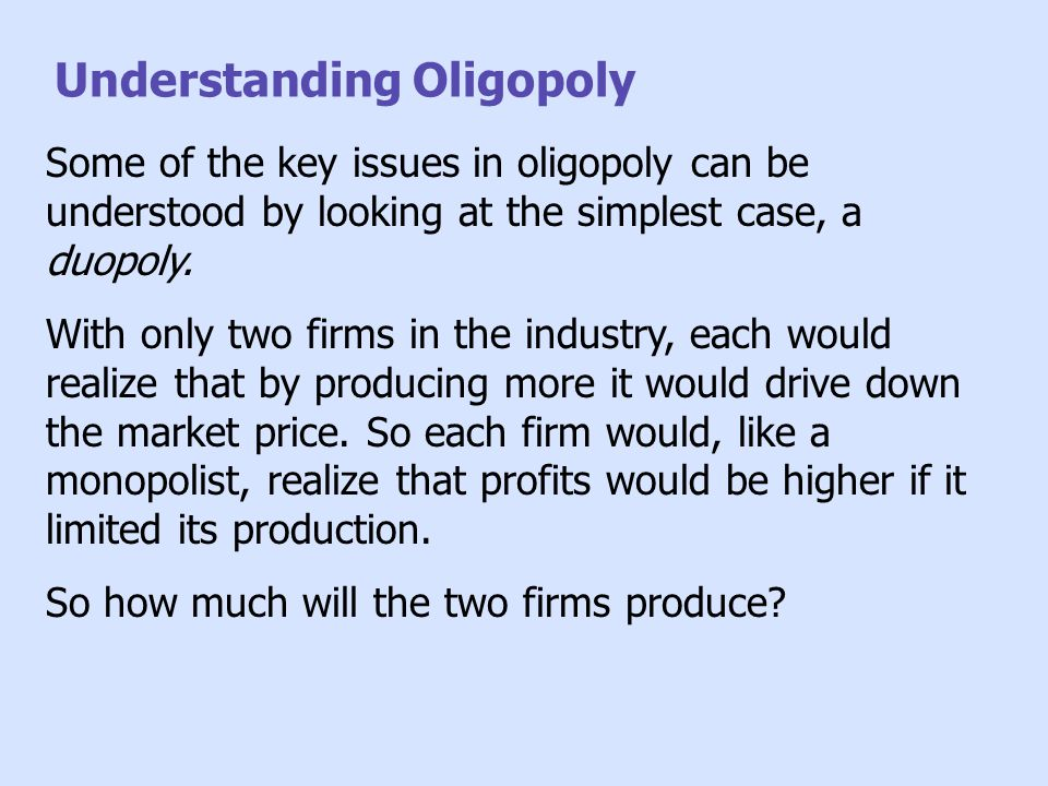 understanding oligopoly in market structure To discuss about oligopoly market structure, example of supermarkets in uk will be analysed in this part of essay supermarket is a self service store selling groceries, confectionaries, dairy products, tobacco, alcohol and products required for daily household purpose.