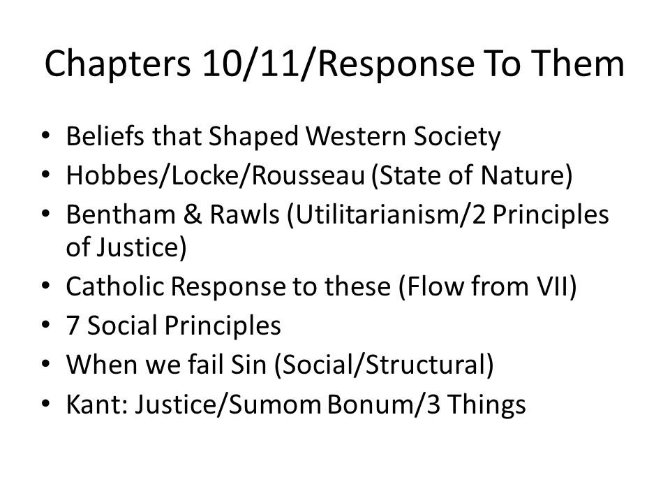 Chapters 10/11/Response To Them