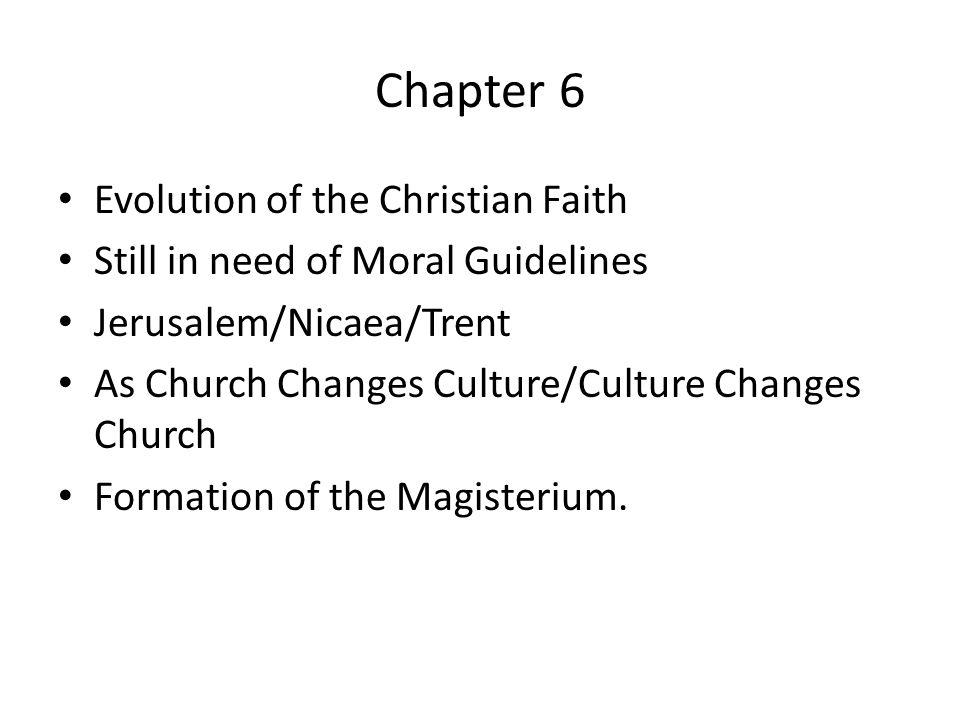 Chapter 6 Evolution of the Christian Faith