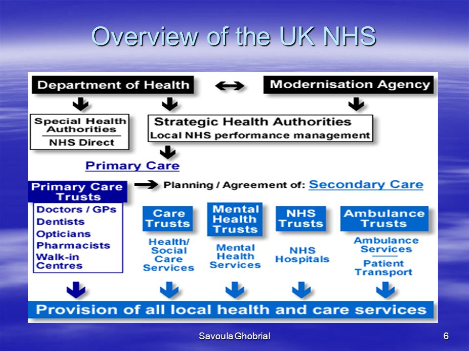 Overview of the UK NHS Savoula Ghobrial