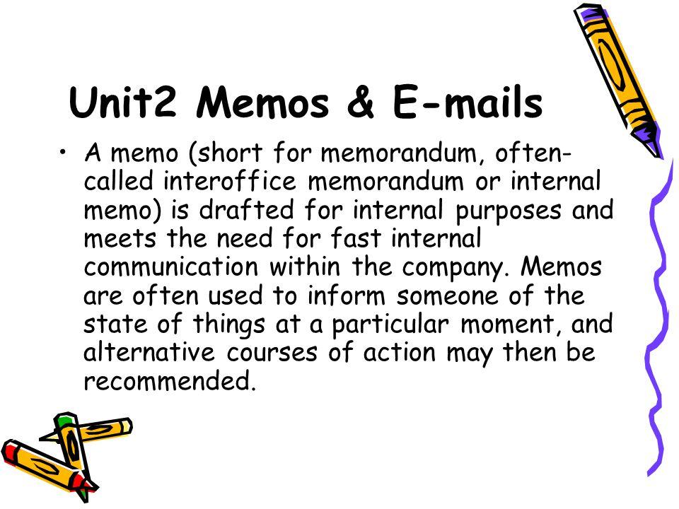 Unit2 Memos U0026 E Mails  Interoffice Memorandum Format