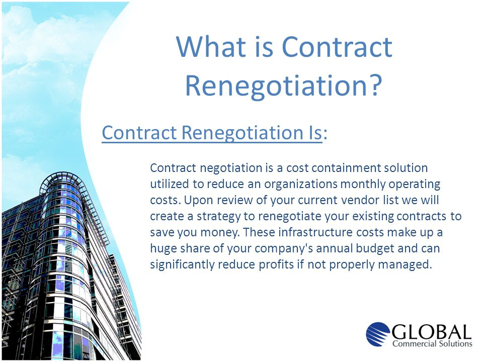 What is Contract Renegotiation