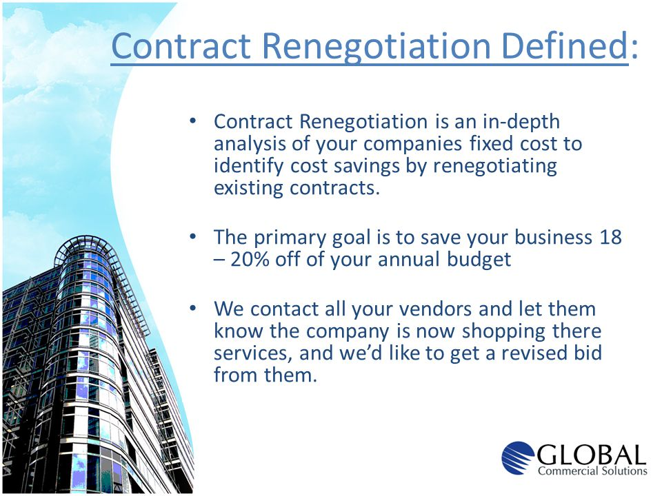 Contract Renegotiation Defined: