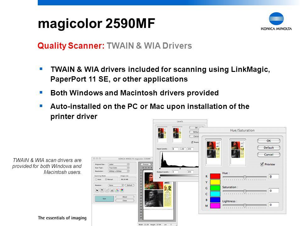 magicolor 2590MF Quality Scanner: TWAIN & WIA Drivers