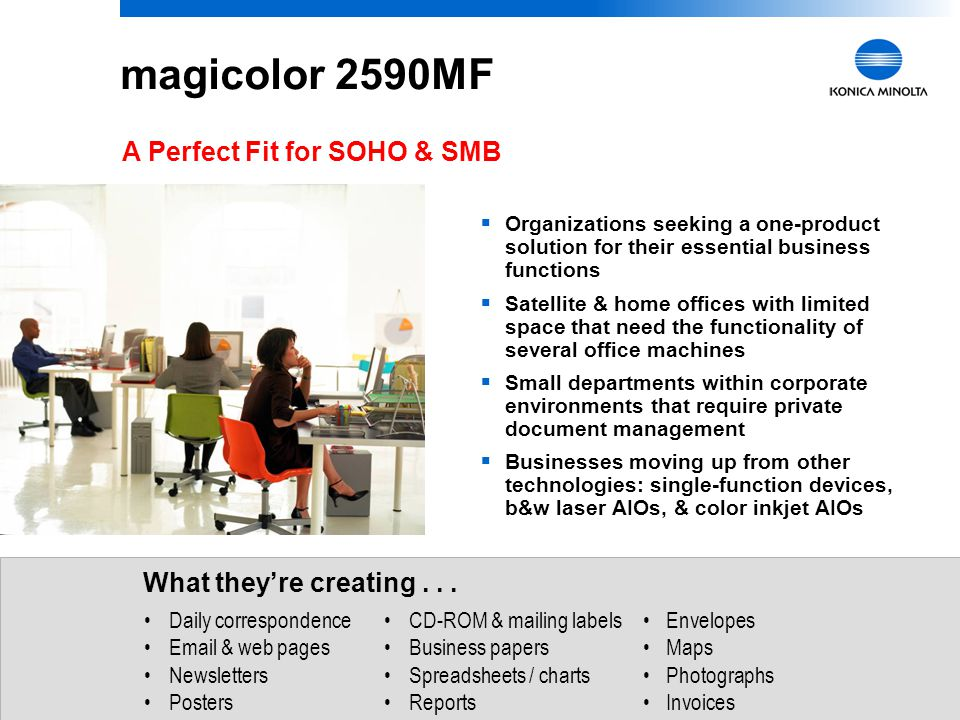 magicolor 2590MF A Perfect Fit for SOHO & SMB