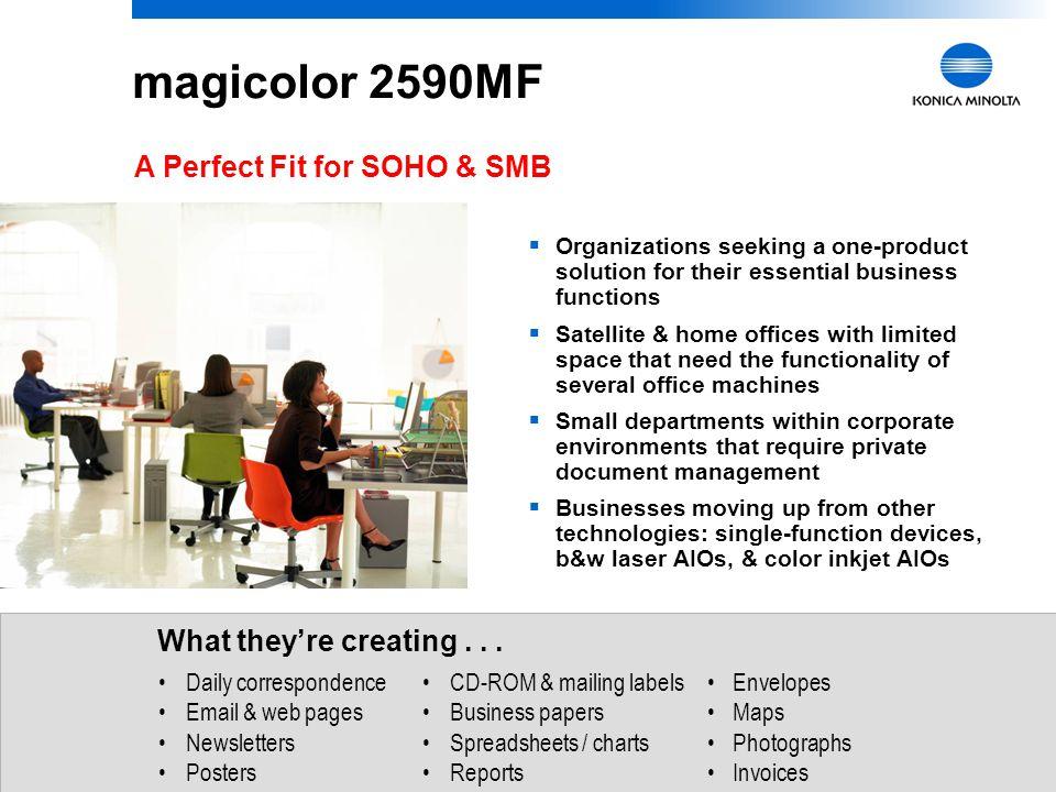 magicolor 2590MF A Perfect Fit for SOHO & SMB