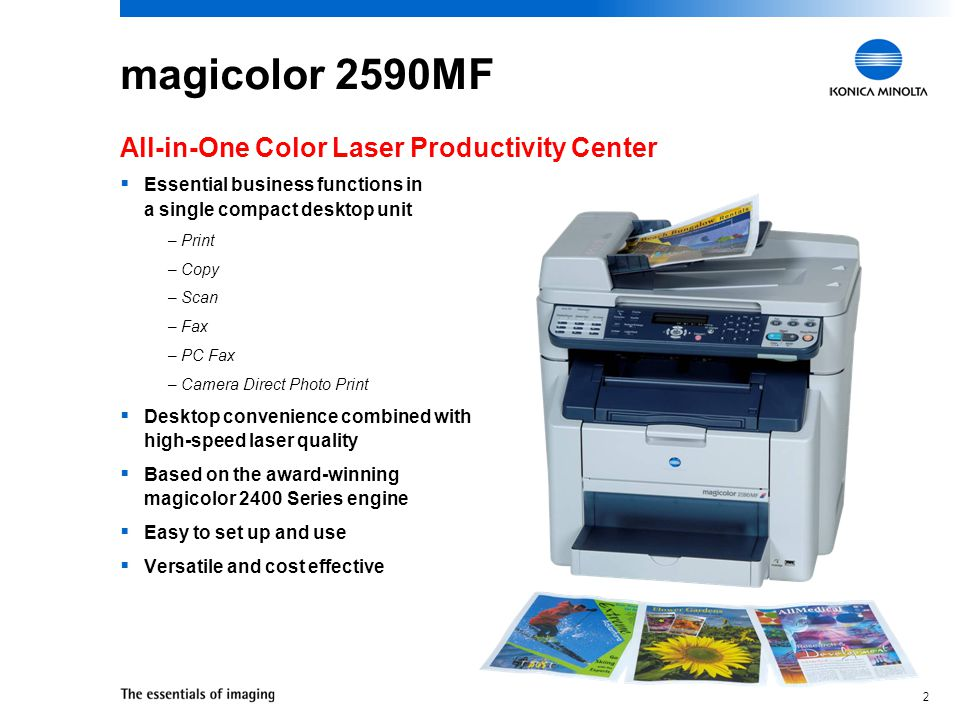 magicolor 2590MF All-in-One Color Laser Productivity Center
