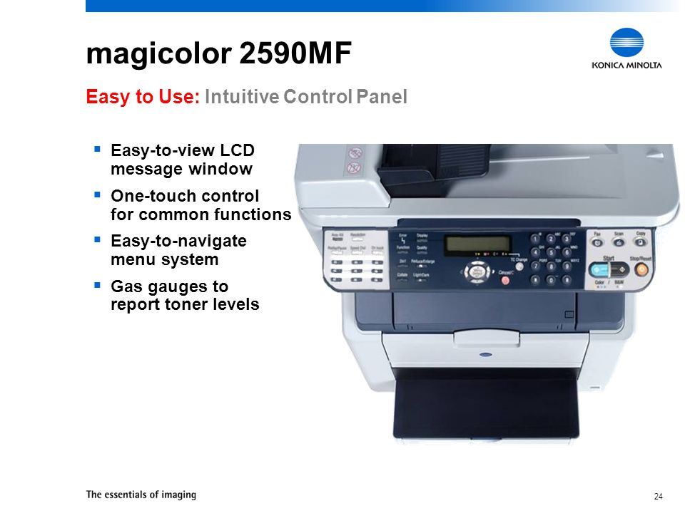 magicolor 2590MF Easy to Use: Intuitive Control Panel