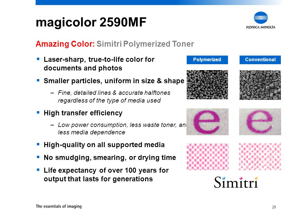magicolor 2590MF Amazing Color: Simitri Polymerized Toner
