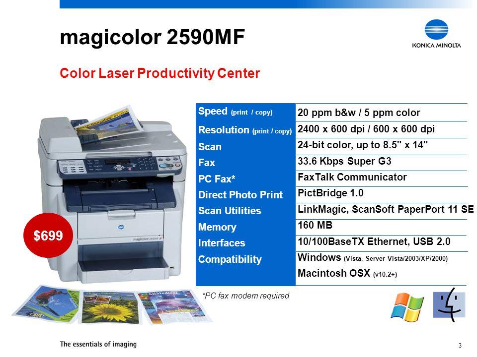 magicolor 2590MF Color Laser Productivity Center $699