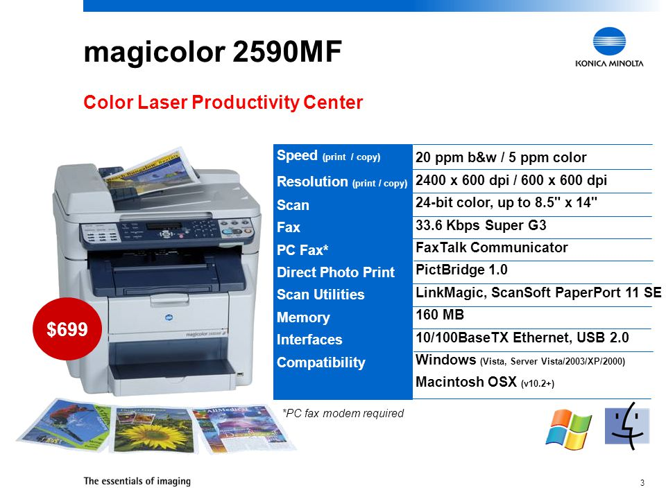magicolor 2590MF Color Laser Productivity Center $699