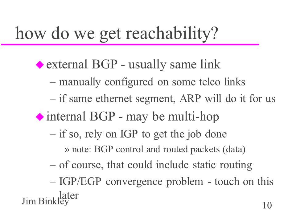 how do we get reachability