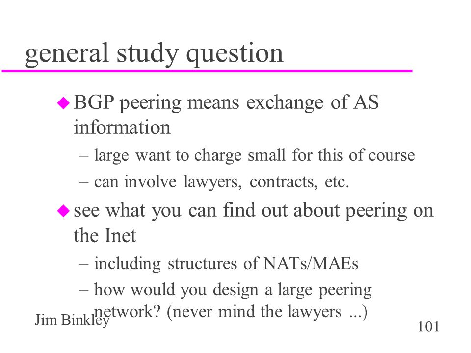 general study question