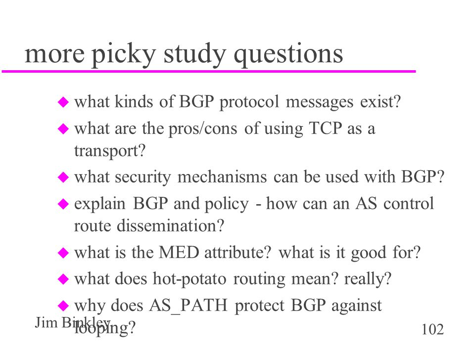 more picky study questions