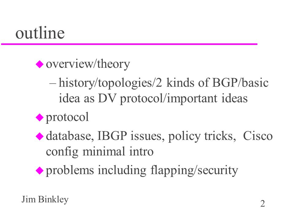 outline overview/theory