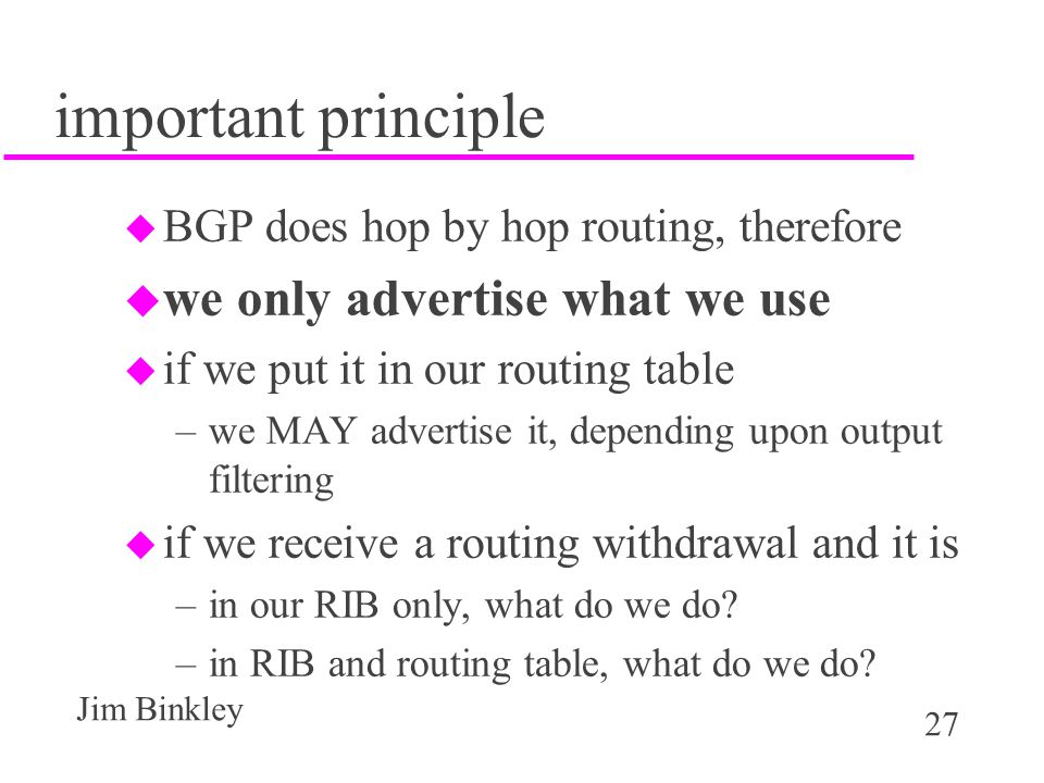important principle we only advertise what we use