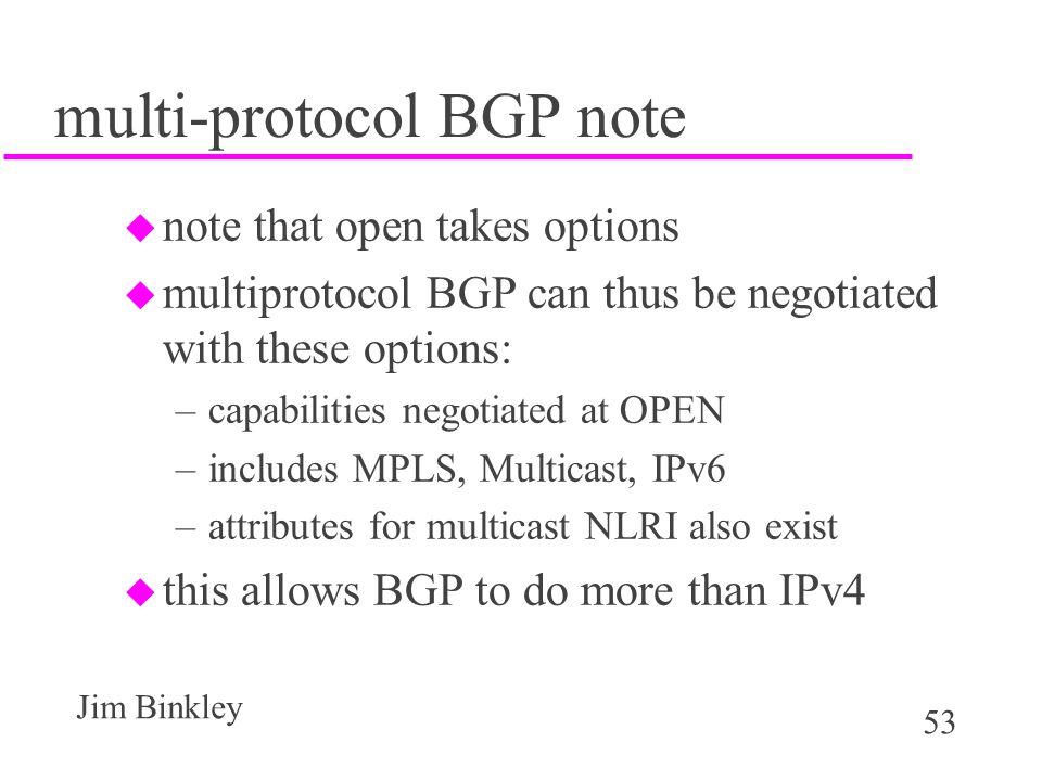 multi-protocol BGP note