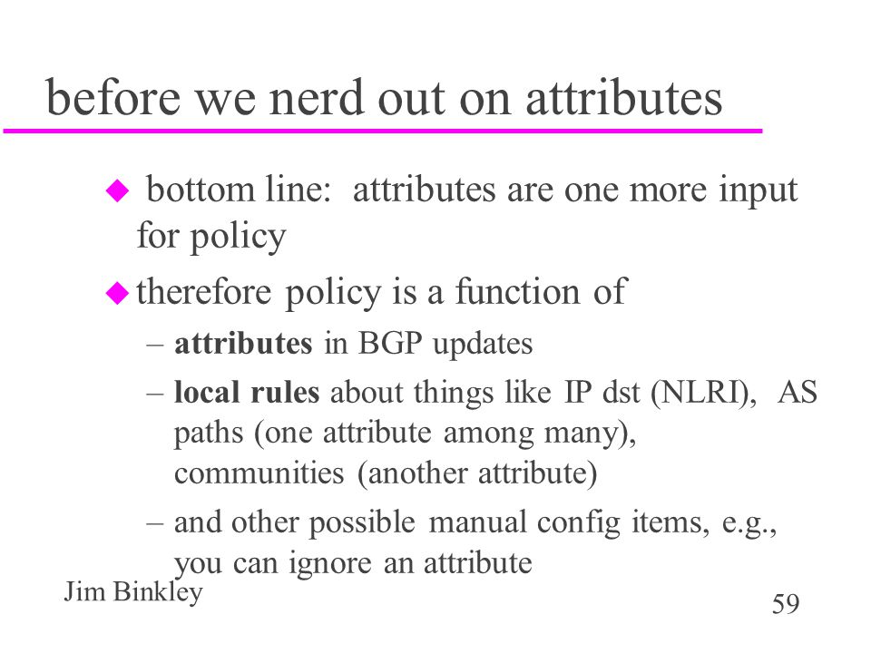 before we nerd out on attributes