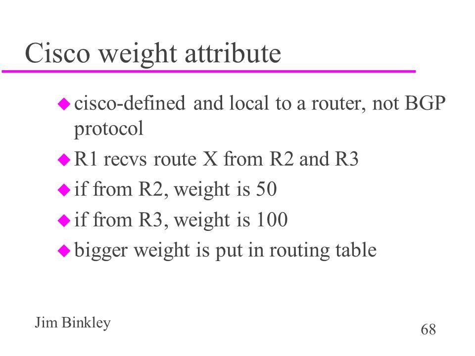 Cisco weight attribute