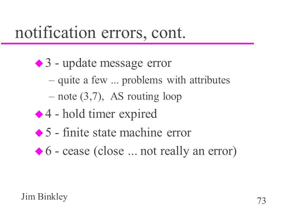 notification errors, cont.