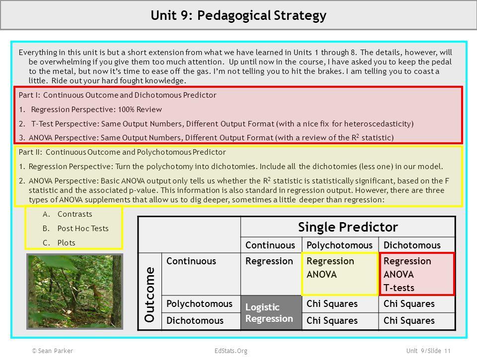 Unit 9: Pedagogical Strategy
