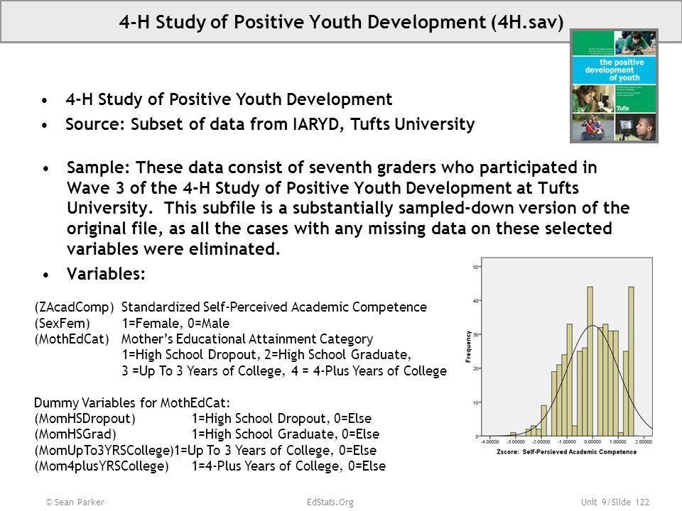 4-H Study of Positive Youth Development (4H.sav)