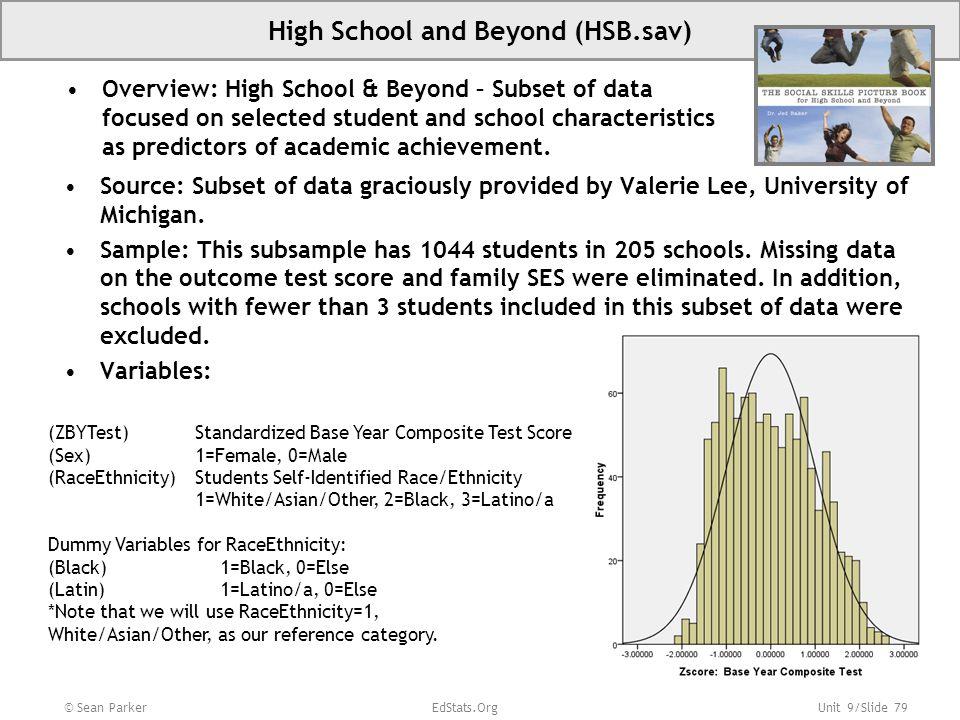 High School and Beyond (HSB.sav)