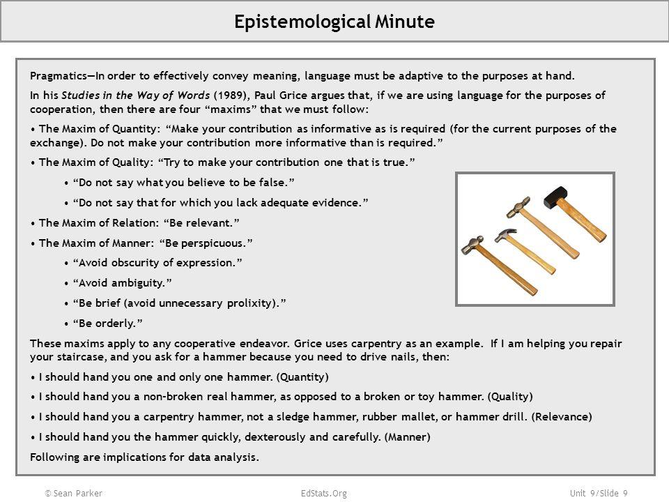 Epistemological Minute