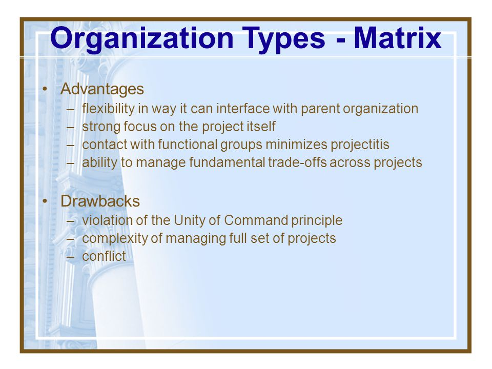 Organization Types - Matrix