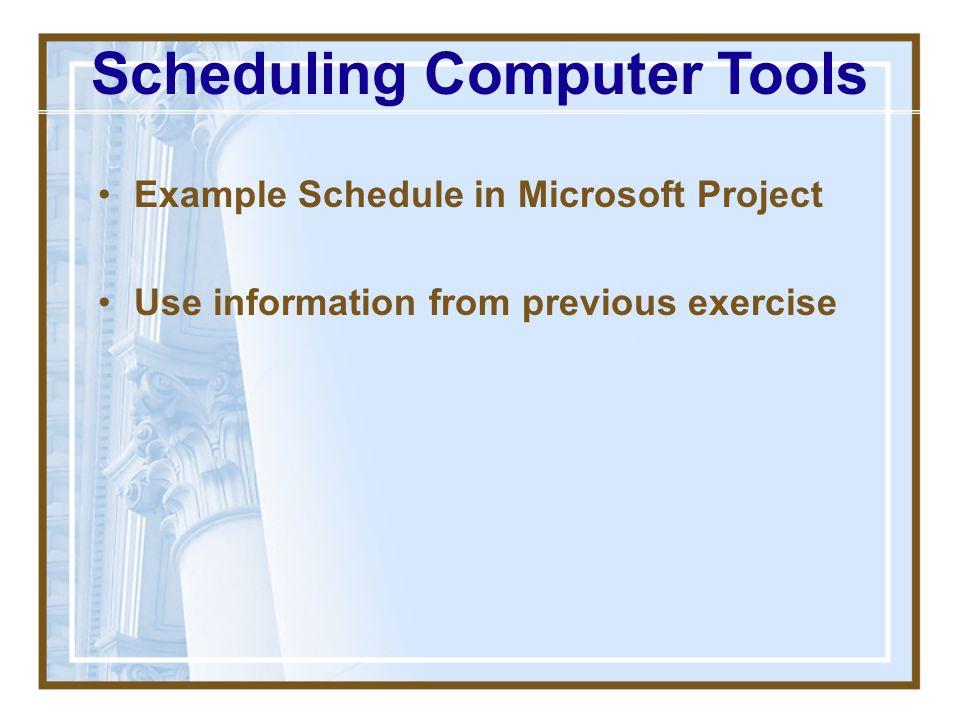 Scheduling Computer Tools