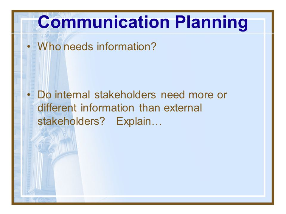 Communication Planning