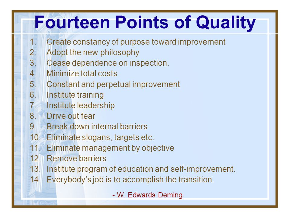 Fourteen Points of Quality