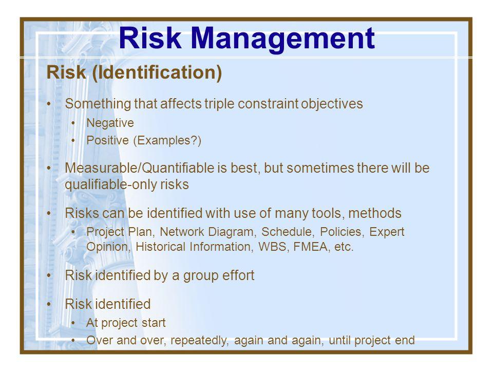Risk Management Risk (Identification)