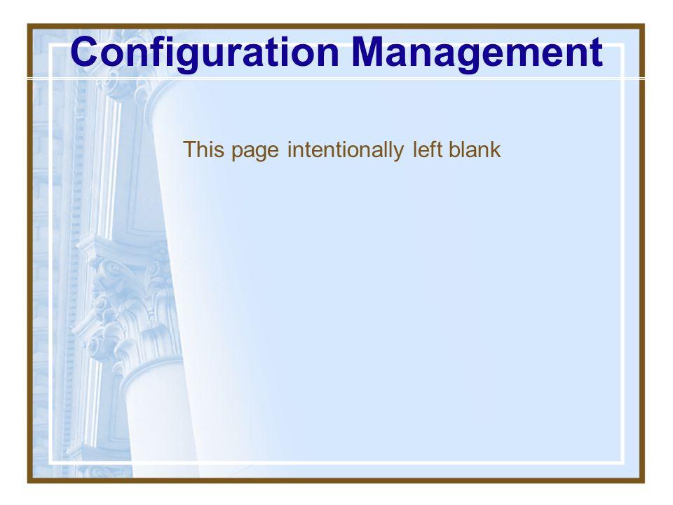 Configuration Management