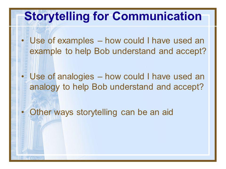 Storytelling for Communication