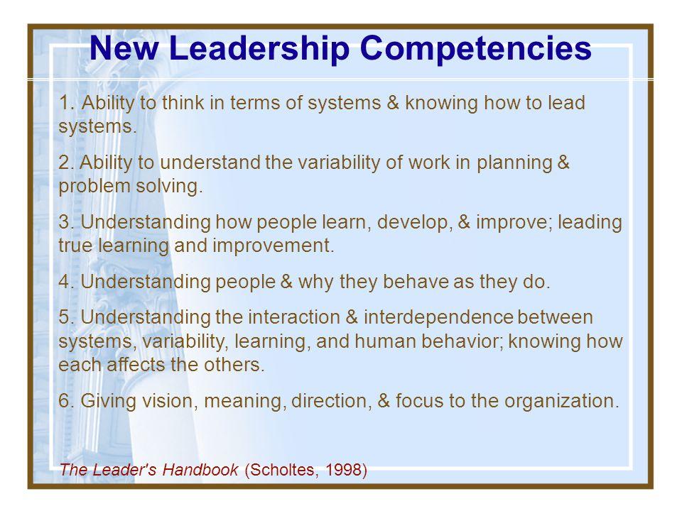 New Leadership Competencies