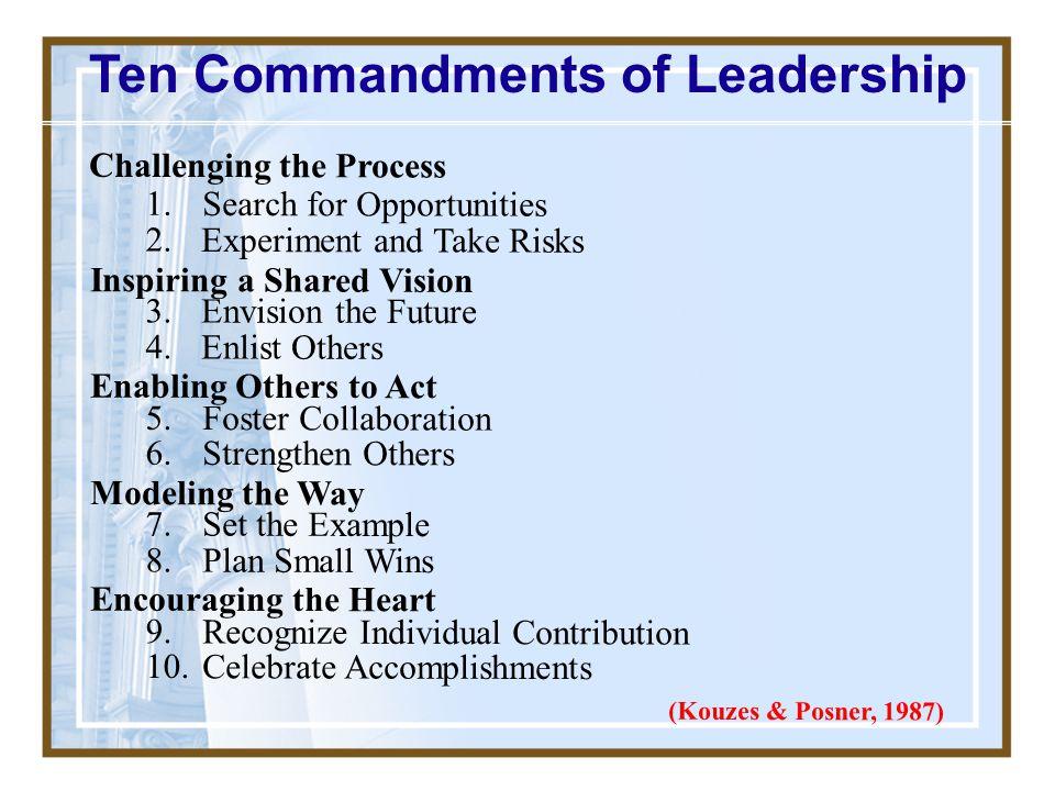 Ten Commandments of Leadership