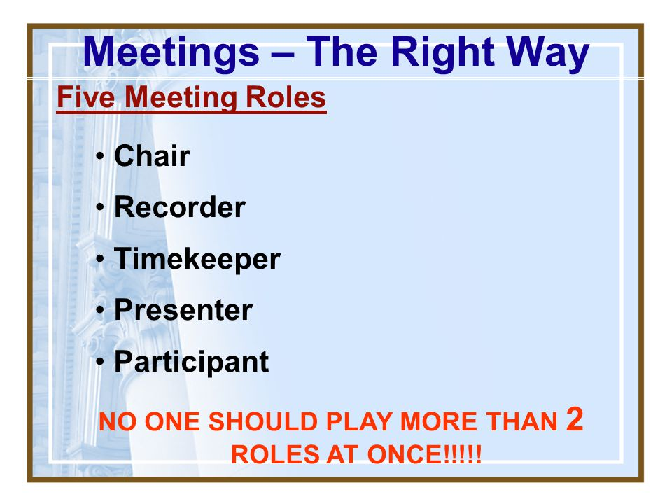 Meetings – The Right Way