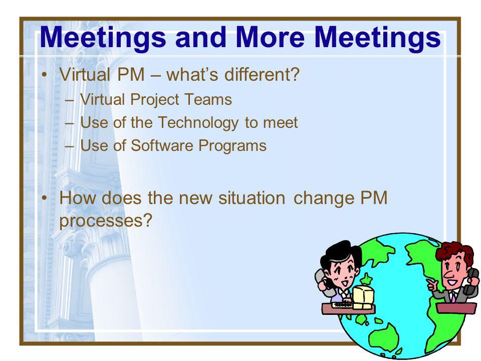Meetings and More Meetings