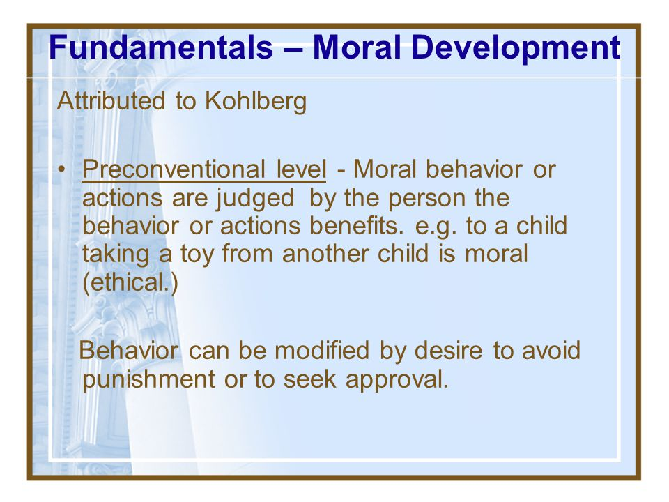 Fundamentals – Moral Development