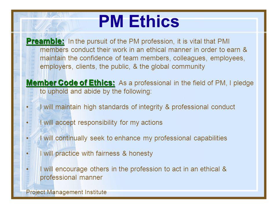 PM Ethics