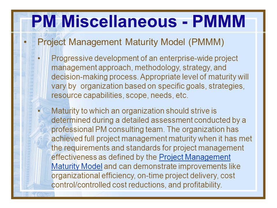 PM Miscellaneous - PMMM