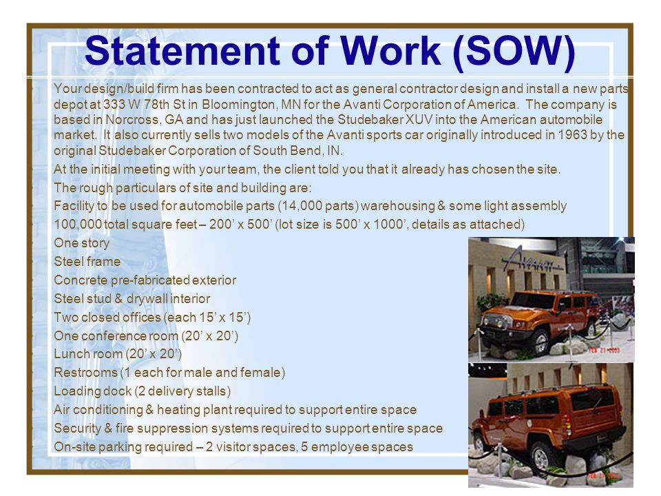 Statement of Work (SOW)